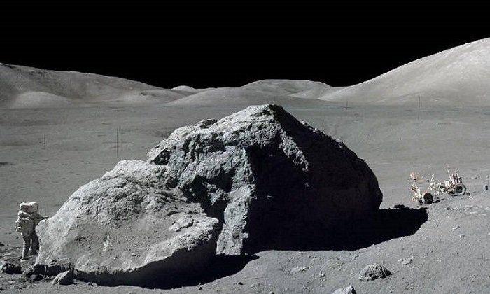 "Harrison ""Jack"" Schmitt at the Taurus-Littrow landing site during the Apollo 17 mission. Image credit: NASA/Eugene Cernan/Public domain."