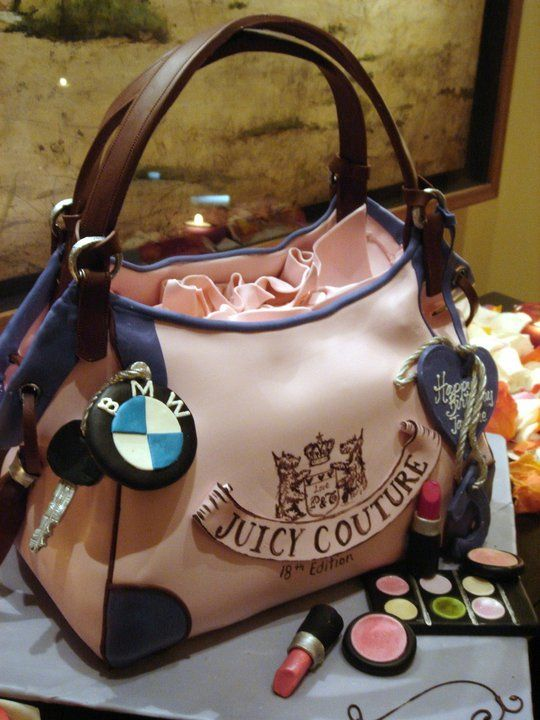 Cheesecake Juicy Couture Purse= Birthday Cake for Amanda.. YESSSS!