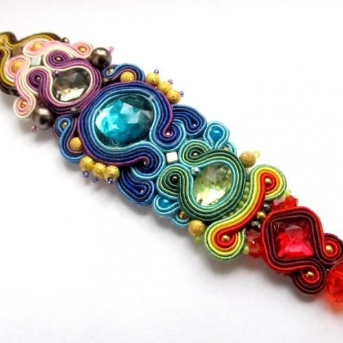 Indian Summer color braid bracelet