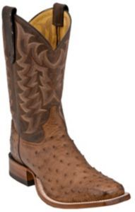 Tony Lama® Mens Chocolate Brown Vintage Full Quill Ostrich Exotic Square Toe Boots | Cavender's