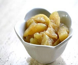 Baked apple slices - quick microwave dessert