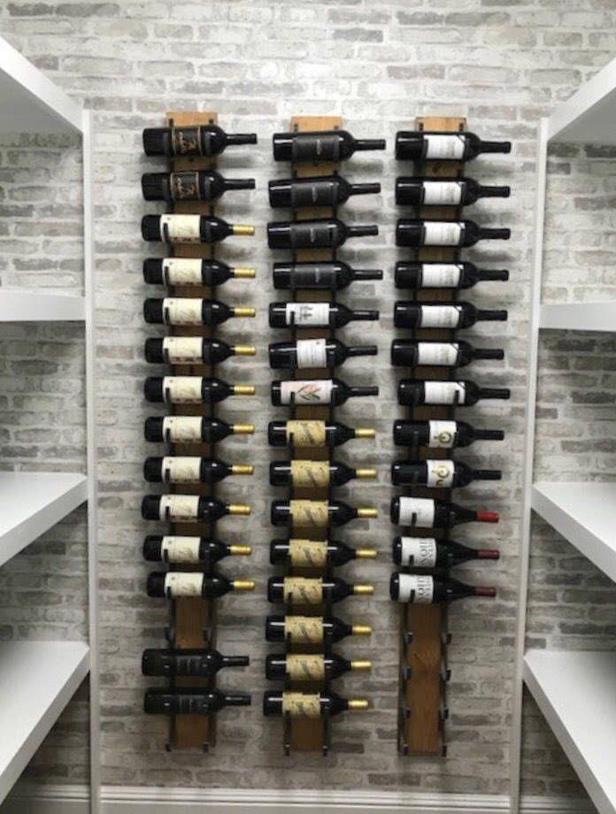 16 Bottle Wall Mounted Wine Rack Distressed Wood Reclaimed Etsy Wine Rack Wall Wall Mounted Wine Rack Wine Rack