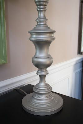 A few great tips for spray painting an old lamp.  I have a few brassy lamps I want to try this out on.