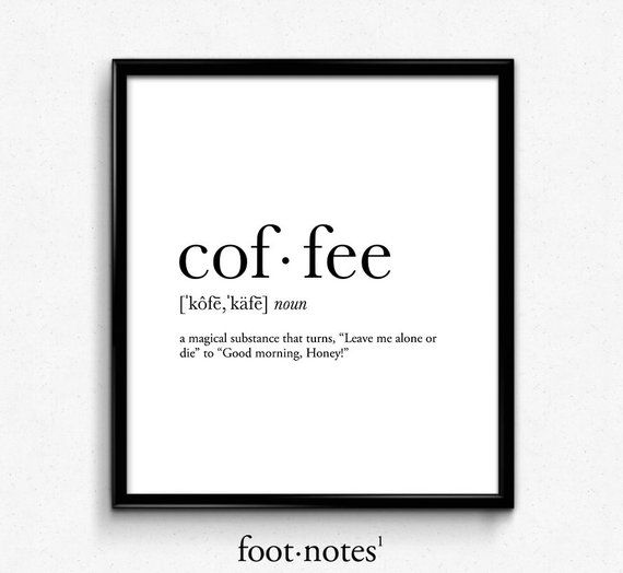 Coffee Magic definition, college dorm girl, dictionary art, minimalist poster, funny definition print, dorm decor, office decor