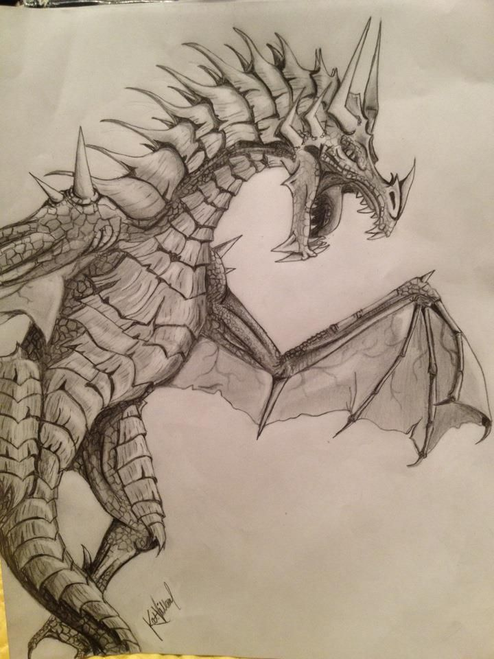 awesome dragon drawing cute cool like it pinterest