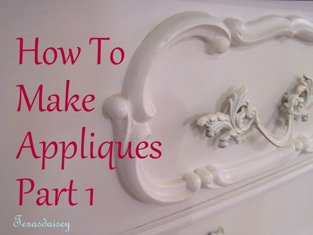 how to make appliques for furniture wood