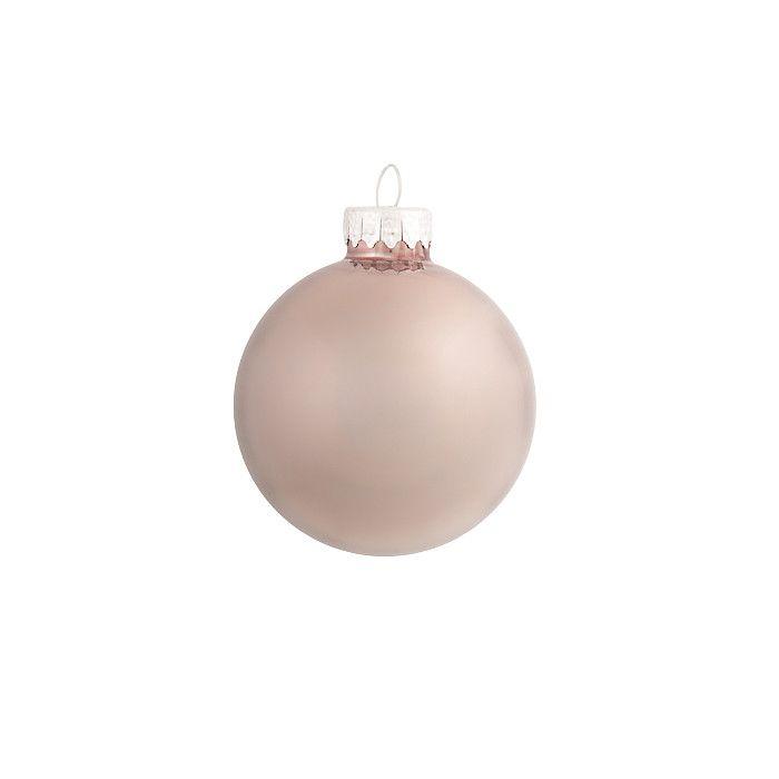 Weihnachtskugeln Opal Glas braun ca D:6 cm