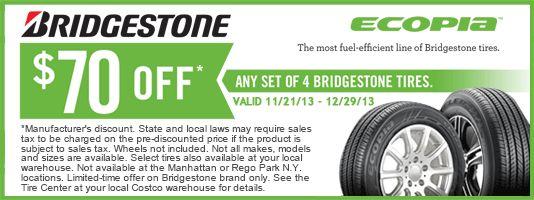 Bridgestone tires rebates coupons