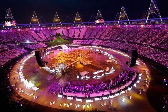 London Olympics opening ceremony Transition from music to literature