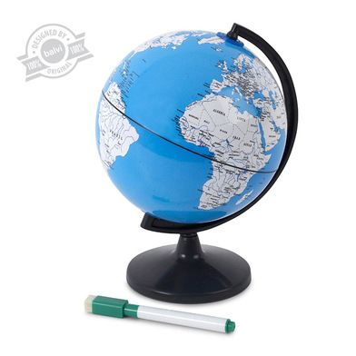 Travel planner Note Globe with marker - Balvi