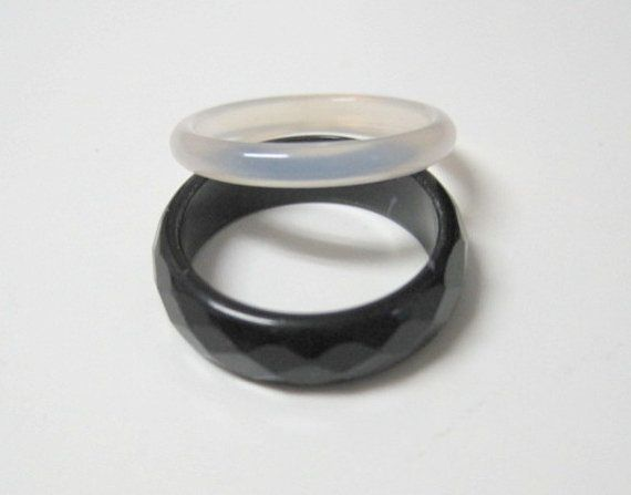 this onyx black band is a hypoallergenic ring no metal jewelry