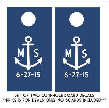 Anchor Cornhole Board Decals Set of Two by CustomVinylbyBridge