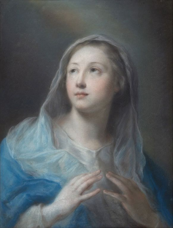 Rosalba Carriera, Madonna, 1725 - 1730, pastello su carta incollata su tela / Rosalba Carriera, Madonna, 1725 - 1730, crayon on paper glued on canvas, Gorizia, Palazzo Coronini Cronberg inv. 1531