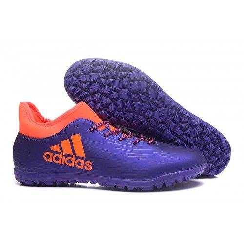 Adidas X 16.3 TF Botas de Fútbol Rojo Púrpura