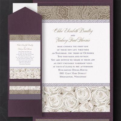 Pattern Play Wedding Pocket Invitations http://partyblock.carlsoncraft.com/2414-FBN19151B-Pattern-Play--Pocket-Invitation.pro