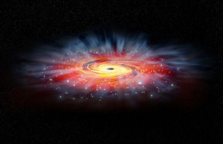 Uma medição de rotina acabou sendo a porta para a descoberta de um mega buraco negro em uma galáxia a 1,8 bilhões de anos-luz de nós