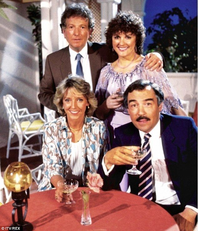 The original cast of Duty Free in 1984 Keith Barron, Gwen Taylor, Joanna Van Gyseghem and Neil Stacy