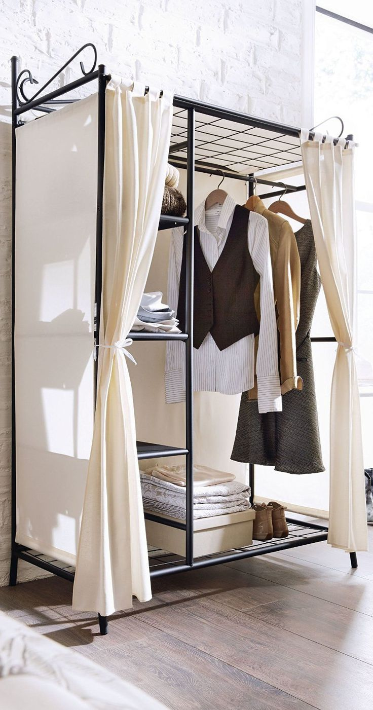 Die besten 25 Kleiderschrank mit vorhang Ideen auf