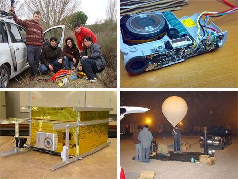 DIY student weather balloon.