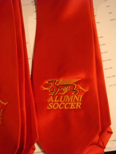 Add splash to a suit with a Guelph Gryphon athletics alumni tie.
