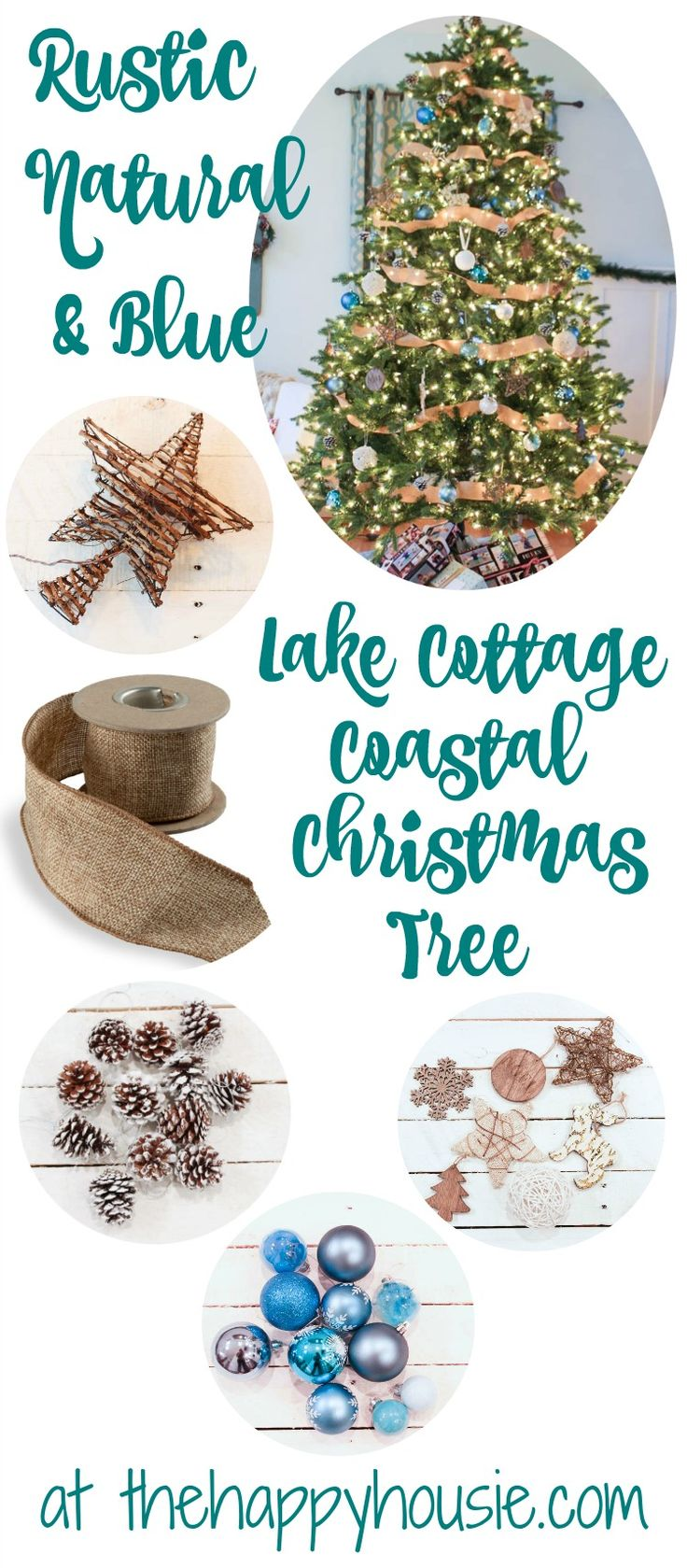 Our rustic natural blue lake cottage coastal christmas for Stahlwandbecken 3 60 x 0 90