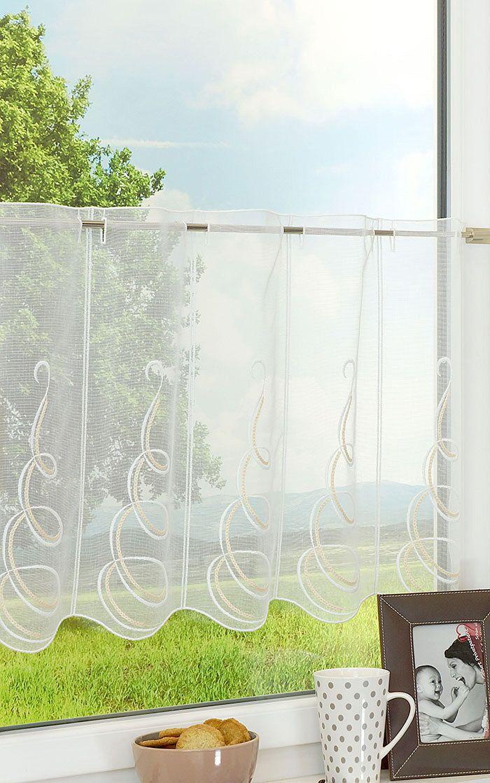 Scheibengardinen klassisch \ modern u2013 Bistrogardinen im - badezimmerzubehör ohne bohren