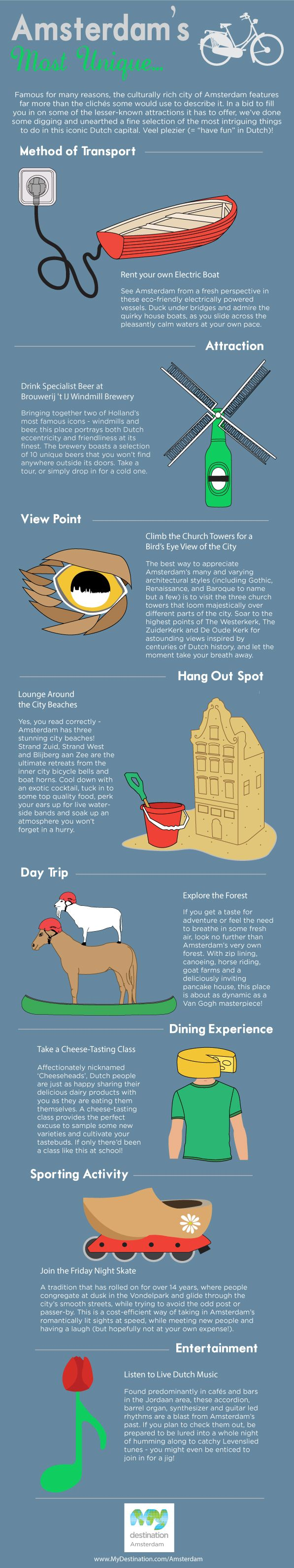 Unique Things To Do In Amsterdam Infographic