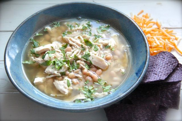 Easy Chicken Chile Verde & White Bean Soup - Alaska from Scratch