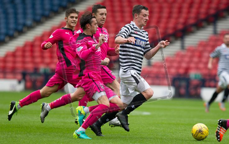 Queen's Park's David Galt in action during the Ladbrokes League One game between Queen's Park and Airdrieonians.