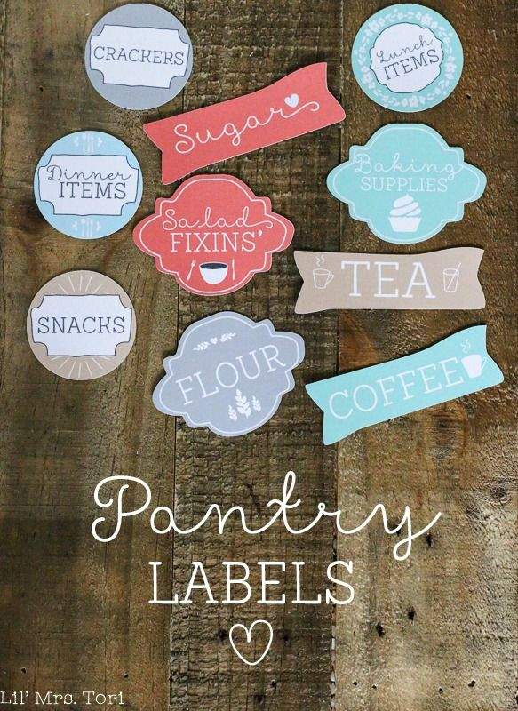 Printable Pantry Labels. Get that pantry organized today! #organization