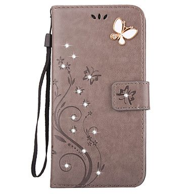 Aescin+Butterfly+Pattern+Embossing+Point+Drill+PU+Leather+Material+Phone+Case+For+iPone+7+7Plus+6S+6Plus+SE+5S+4S+–+AUD+$+11.43