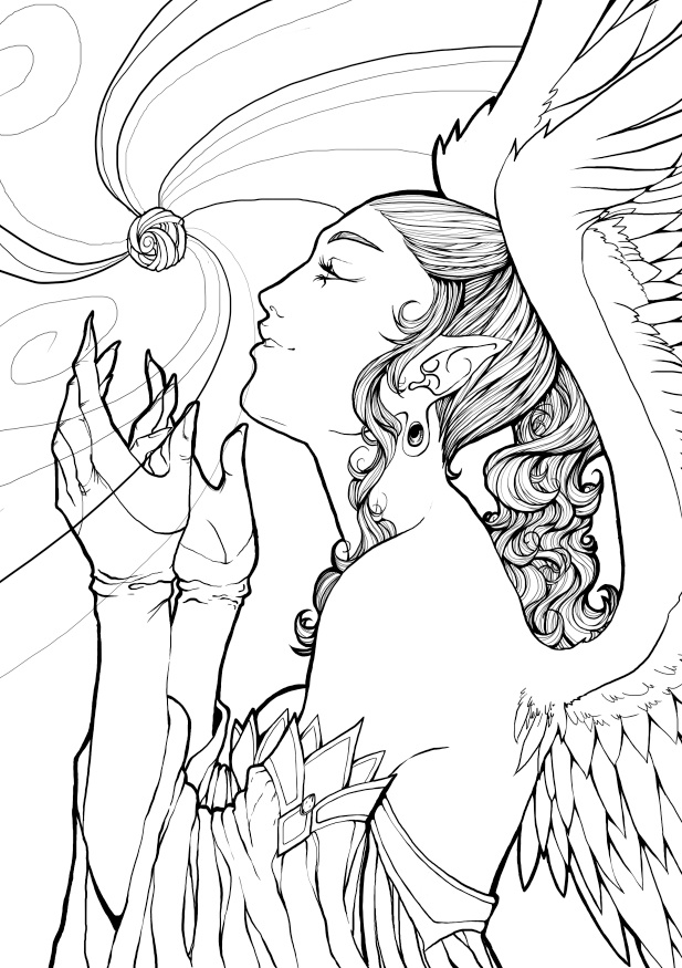 182 best FairiesAngels coloring pages images on Pinterest