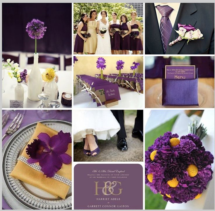 97 best purple gold holiday images on pinterest bamboo skewers purple yellow and grey wedding colours bridesmaids in purple juniours in yellow guys in grey linen pants and white shirts junglespirit Images