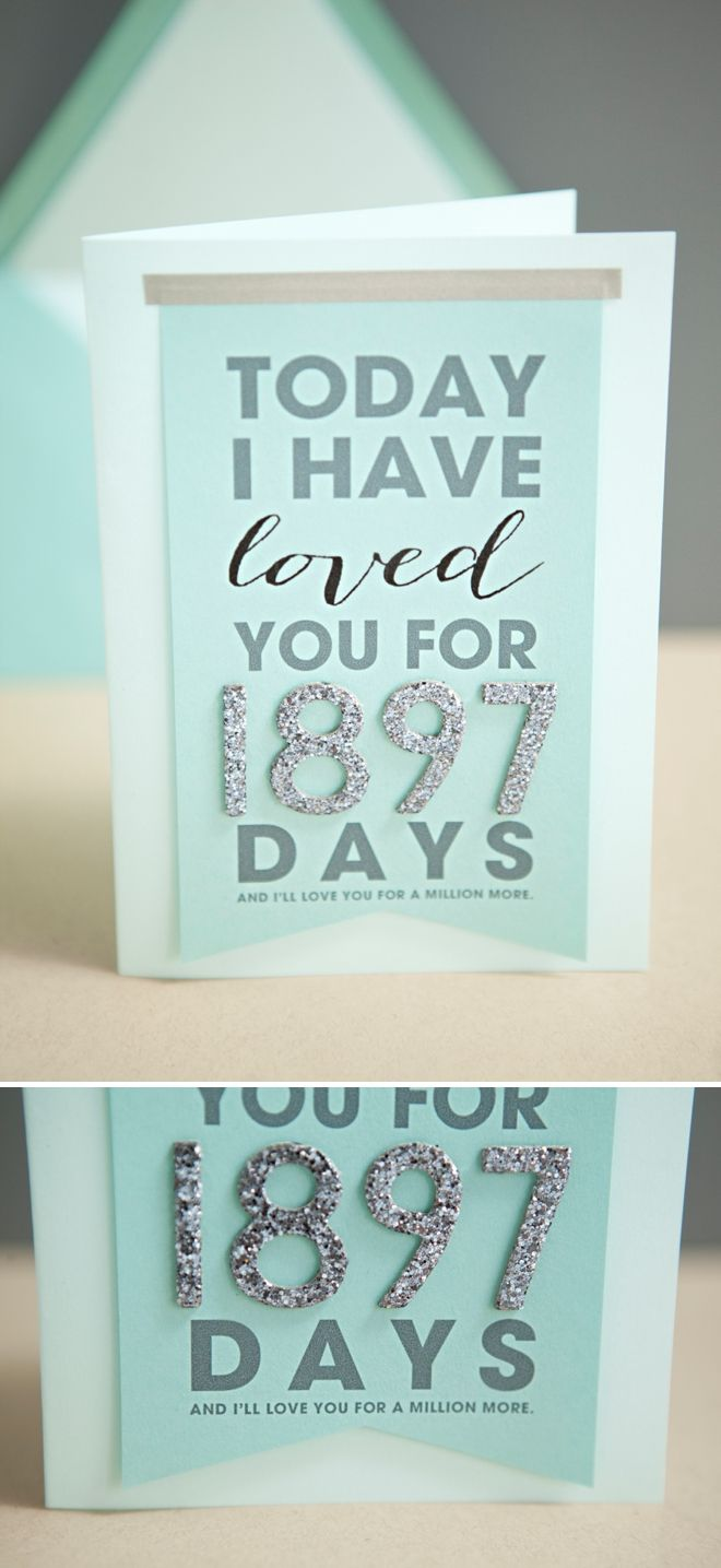 "DIY ""Today I Have Loved You For..."" Card + with free printable and easy steps!"
