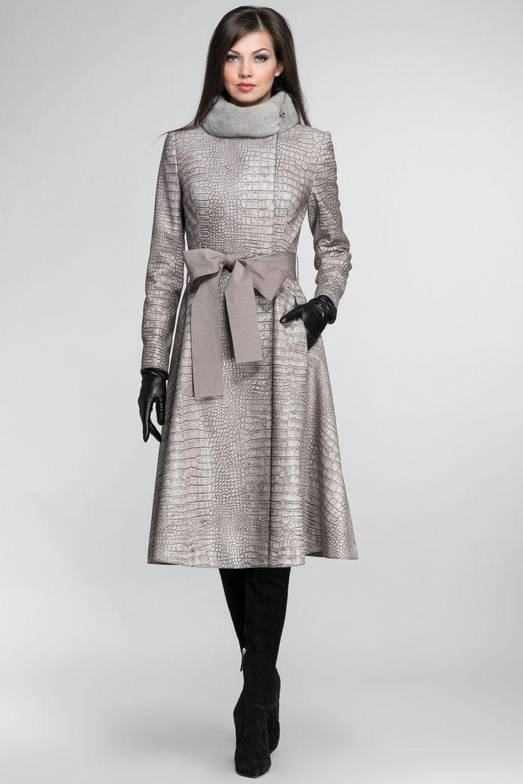 Igor Gulyaev Кожаное пальто с норковой отделкой+пояс 16907