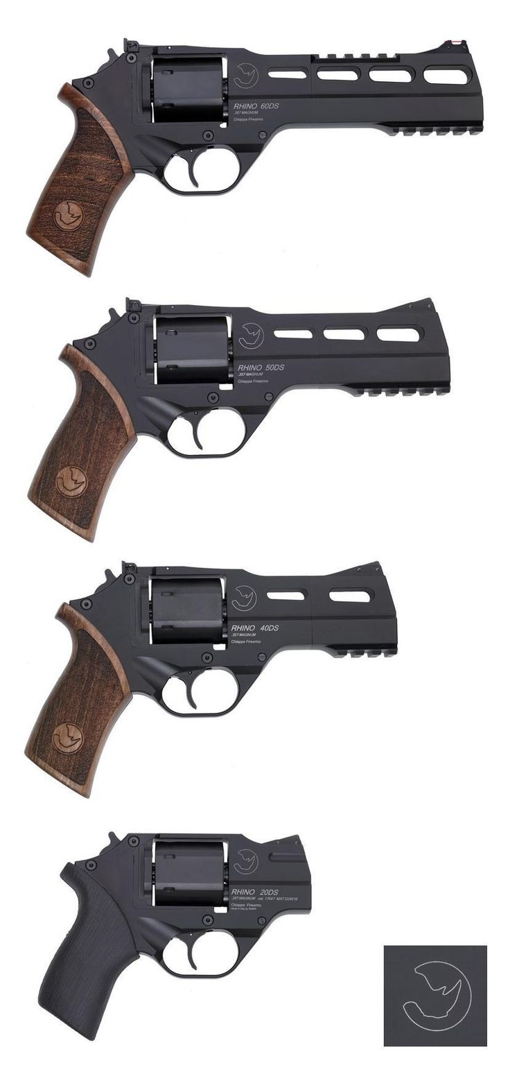 different barrel lengths for Chiappa Rhino Revolvers --- 60DS (6 inch barrel) - 50DS (5 inch barrel) - 40DS (4 inch barrel) - 20DS (2 inch barrel)