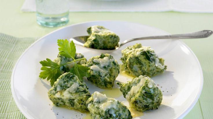 Käse-Spinat-Nocken auf italienische Art (Malfatti)