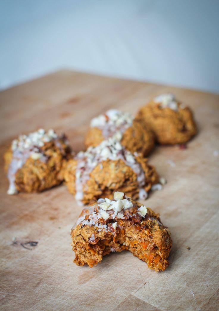 Wortelscones met vanille glazuur – Plantbased