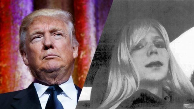 Doanld Trump and Chelsea Manning. (Photos: Evan Vucci/AP, U.S. Army via AP)
