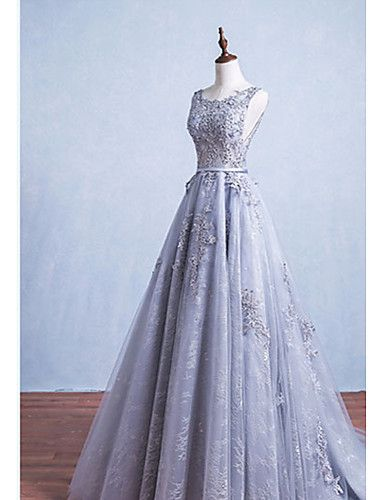 Formal Evening Dress A-line Scoop Floor-length Lace with Sash / Ribbon 5203148 2016 – $125.09