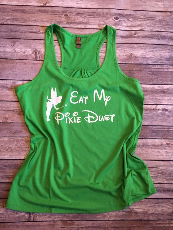 Eat My Pixie Dust, Disney Marathon Tank, Disney marathon, Running Tank, half marathon, 13.1, Tinkerbell tank