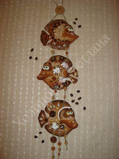 "Gallery.ru / Панно ""Рыбки"" - Мои работы керамика, тестопластика - SvetlanaKholopova"
