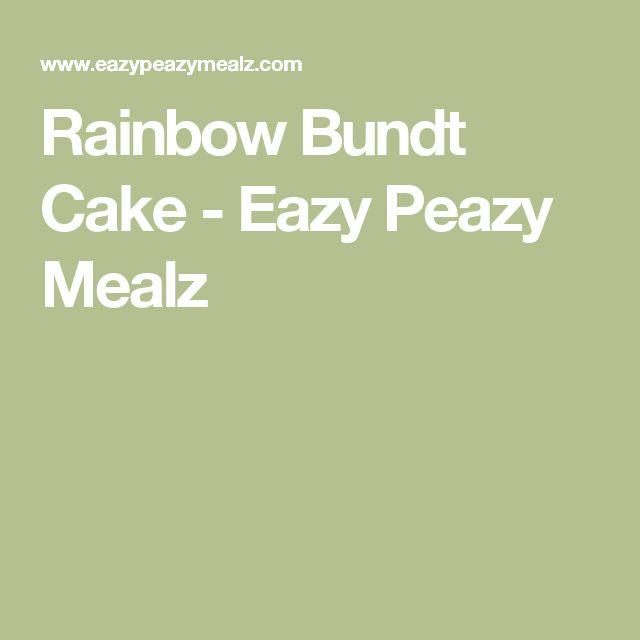 Rainbow Bundt Cake - Eazy Peazy Mealz