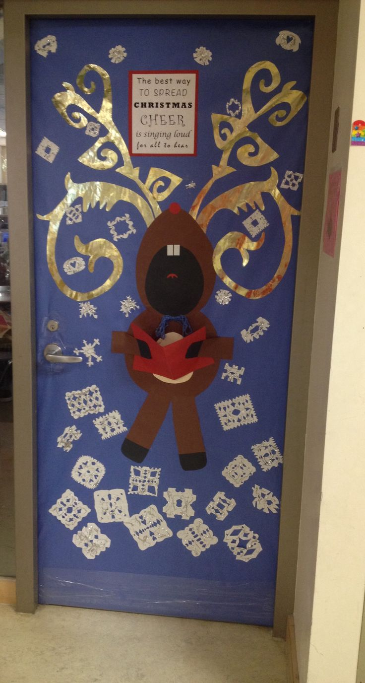 Christmas classroom door decoration ideas - Christmas Door Decoration