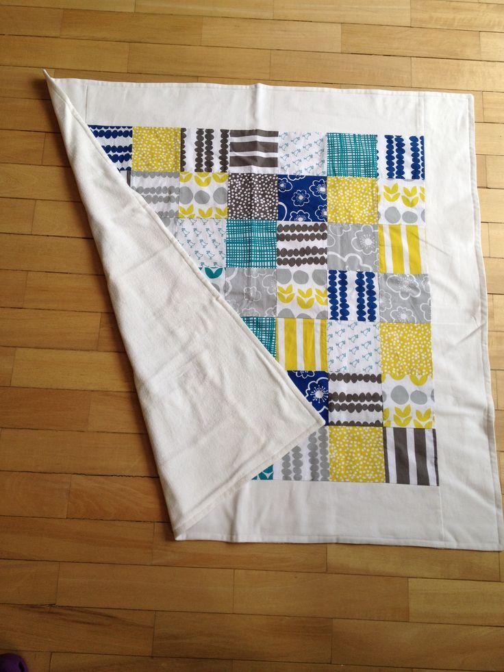 Baby blanket / Cobija de bebe / Quilt / Organic bamboo fleece