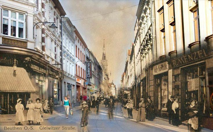 Ulica Gliwicka w Bytomiu [1914 r. / 2014 r.]