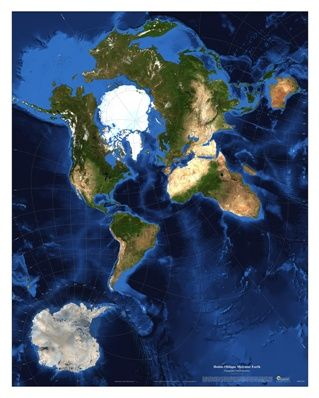 world satellite map with hotine oblique mercator projection this world fine art satellite map is available as a giclee print or plaque mount and shows an