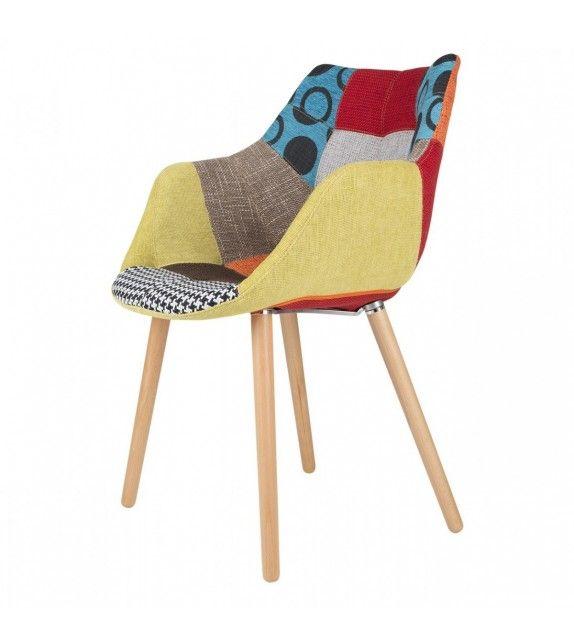 Chaise Twelve Patchwork Multicolor de la marque hollandaise Zuiver à retrouver sur MonDesign.com #twelve #patchwork #multicolor #style #fashion #design #interiordesign #homedecor #color #couleurs #art