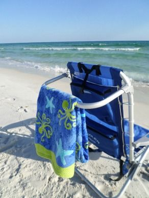 Don't want your towel to get full of sand or need it to dry in the sun? This handy towel rack does just that.
