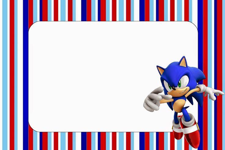Sonic: Invitaciones para Imprimir Gratis.